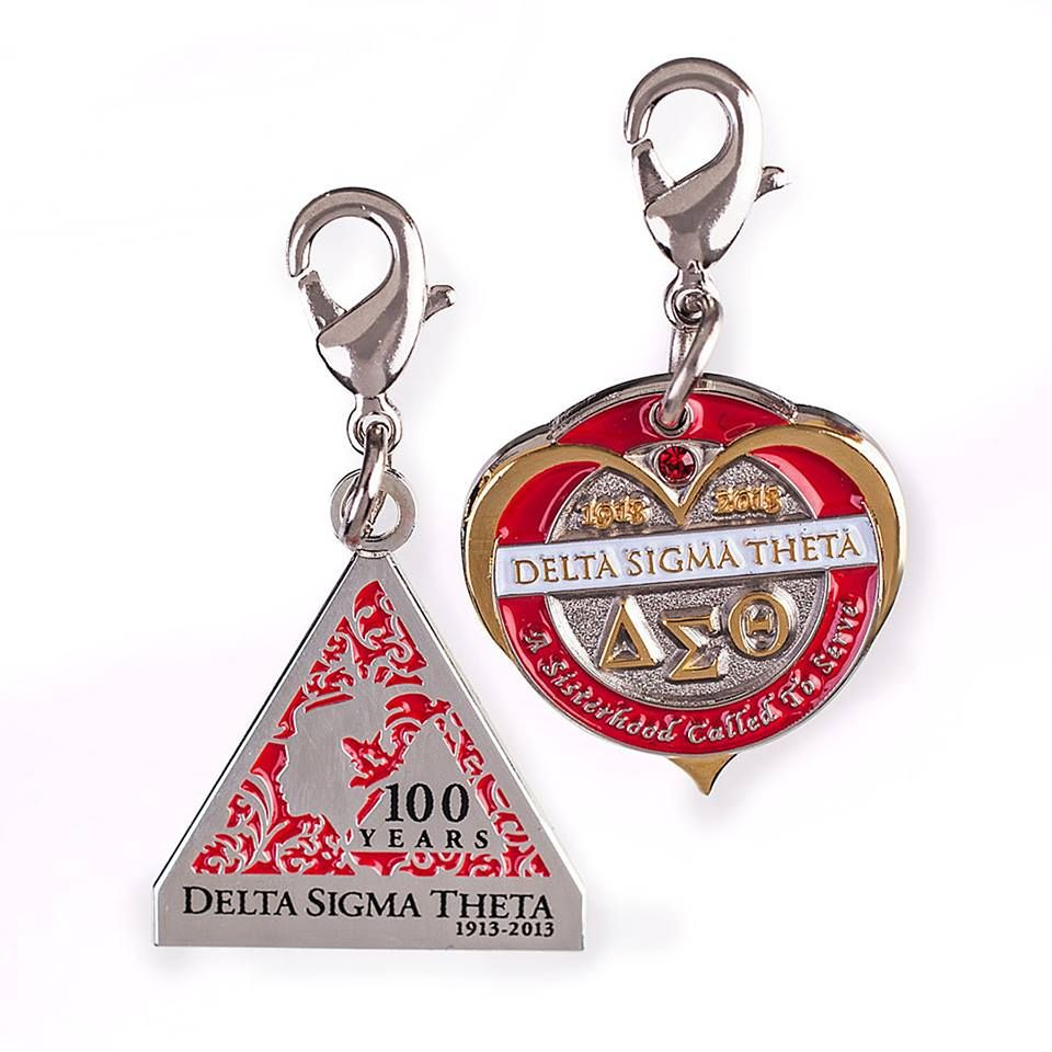 Triangle Charm: Monterey - Delta Sigma Theta - Centennial Charm - Woman's Profile http://www.trendsettersdelaware.com/product_details.cfm?ID=412&mobile=1  Heart Century Charm: Monterey - Delta Sigma Theta - Centennial Charm - Circle http://www.trendsettersdelaware.com/product_details.cfm?ID=417&mobile=1