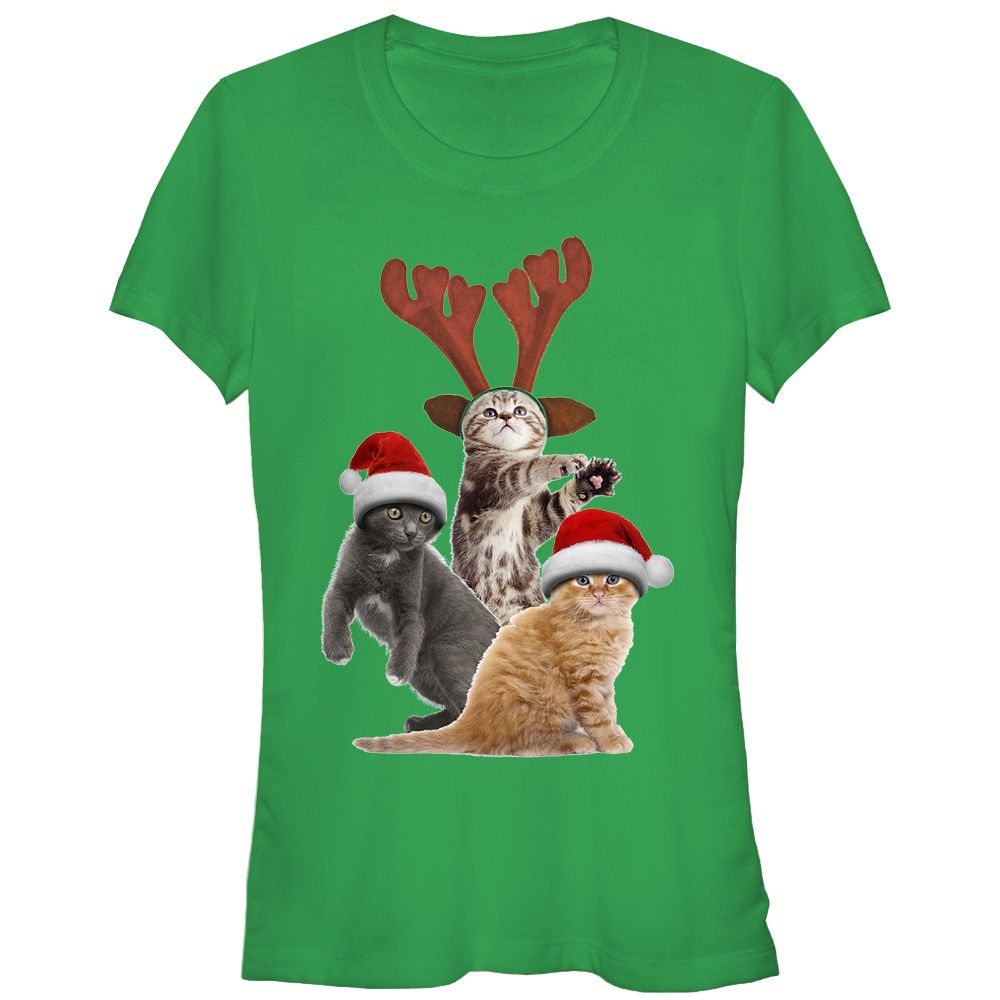 Christmas Extra suggest Juniors\' Ugly Christmas Sweater Cats Kelly ...