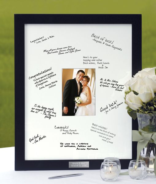 Personalized Guest Book Frame I Love This Idea Definitely On My List Wedding