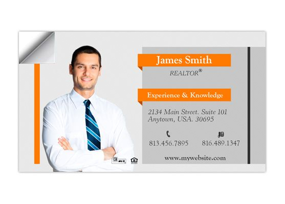 Real Estate Business Card Stickers Template 13 Business Card Stickers Digital Business Card Real Estate Business Cards Realtor Business Cards