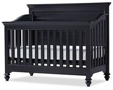 One Kings Lane Amias Convertible Crib Black Baby Cribs Convertible Cribs Black Crib