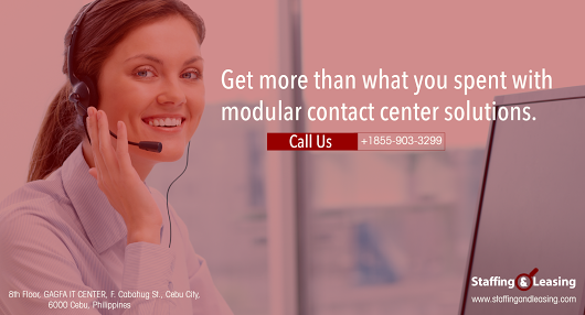 Get modular contact center solutions to improve your call center operations and get better customer relationships. Call us at (+63 32) 401-1505! https://goo.gl/BAVWJM