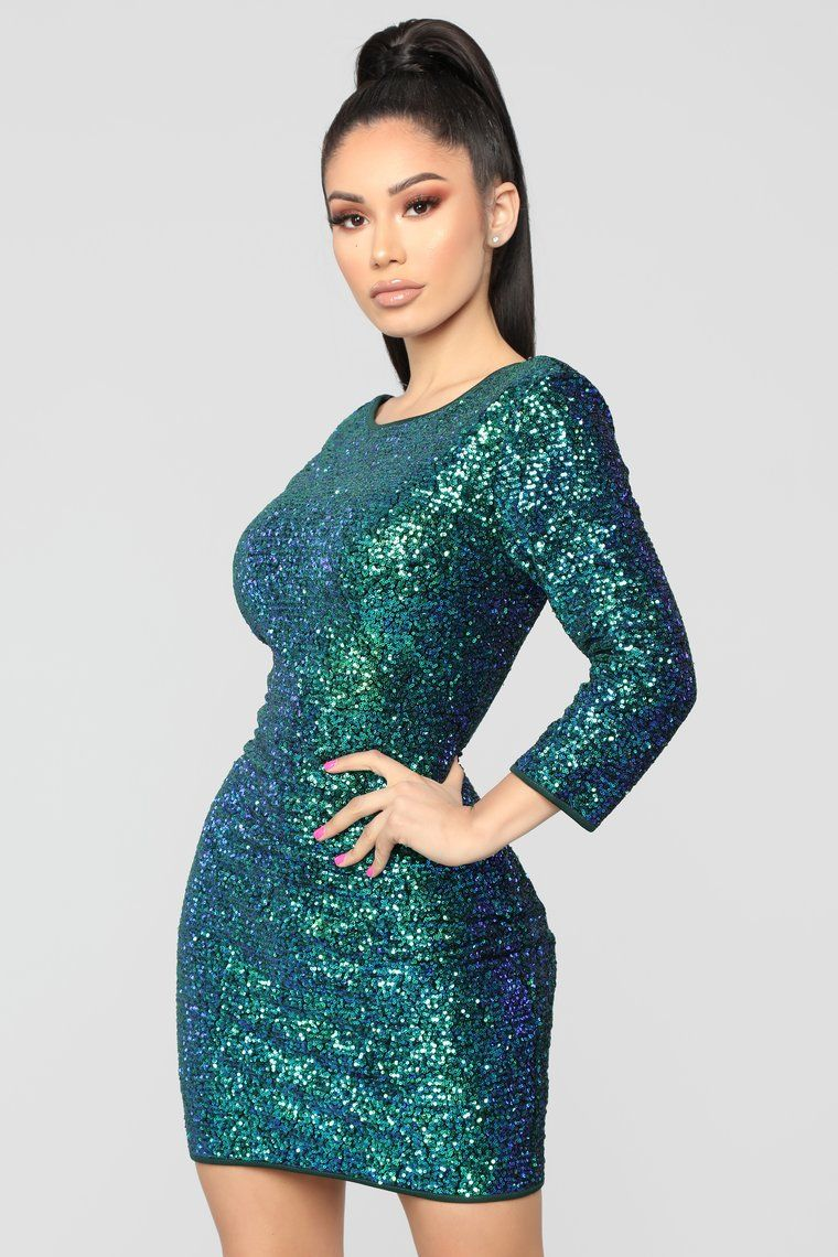 3e992d1ebc3f Perfect Party Sequin Dress - Green in 2019