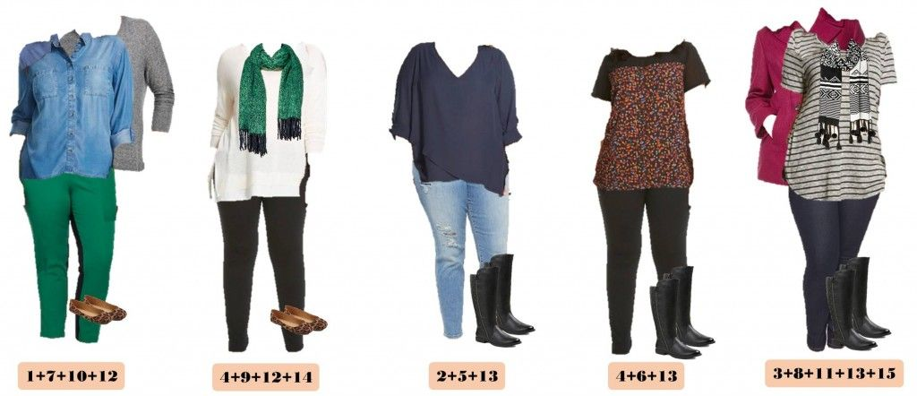 ecf9d553070eb Looking for a fun winter plus size capsule wardrobe  Check out this one  with 15