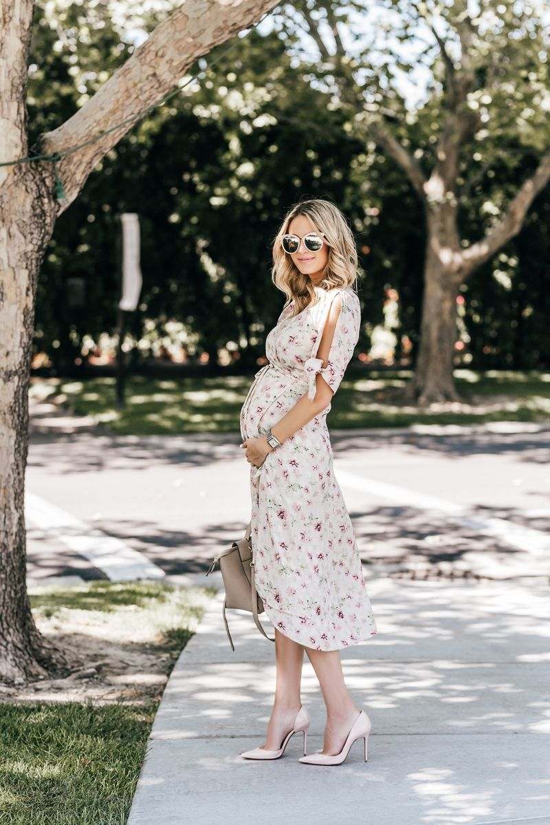 Fall Floral Pregnant Wedding Guest Outfits Maternity Dress Wedding Guest Wedding Guest Outfit Spring [ 1199 x 800 Pixel ]