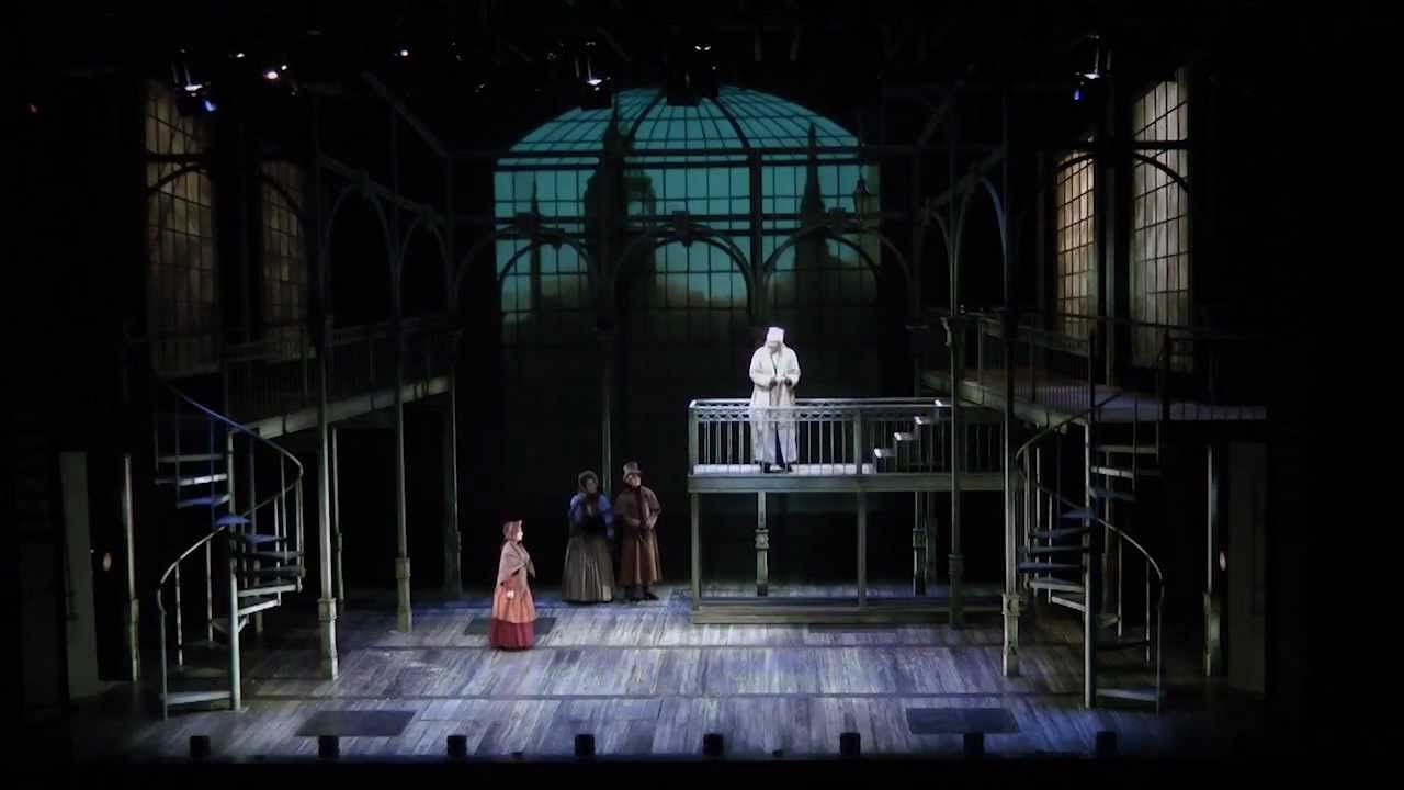 A Christmas Carol. Set design by Christopher Pickart. Sound and ...
