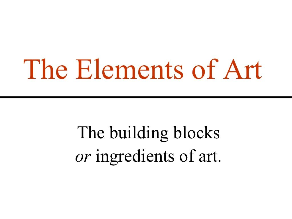 Elements And Principles Of Art Wonderful Ppt With Examples