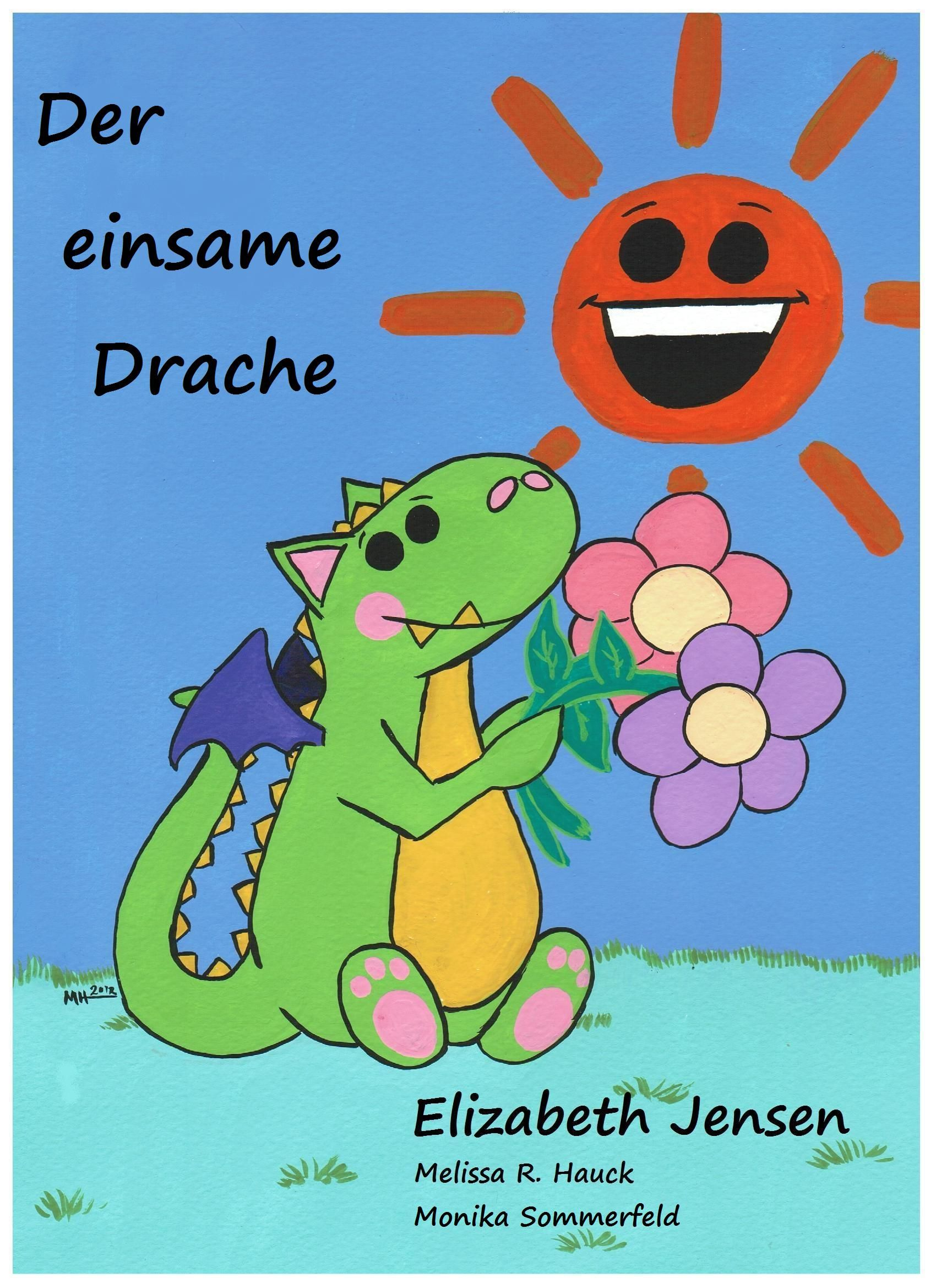 "Cover for German version of ""The Lonely Dragon"""