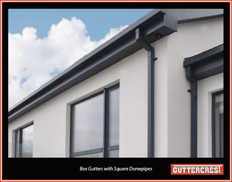 Aluminium Box Gutters Aluminium Box Box Gutter Gutters Black Metal Roof