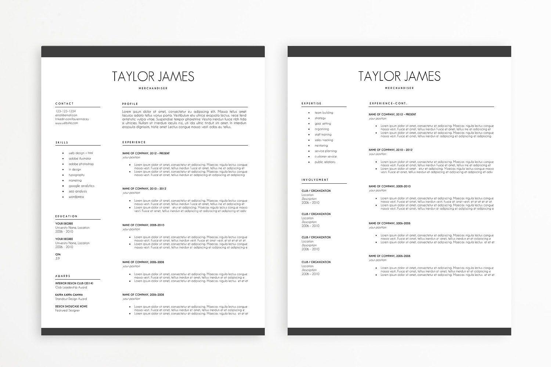 Minimalist Resume Template by minimalistresume on