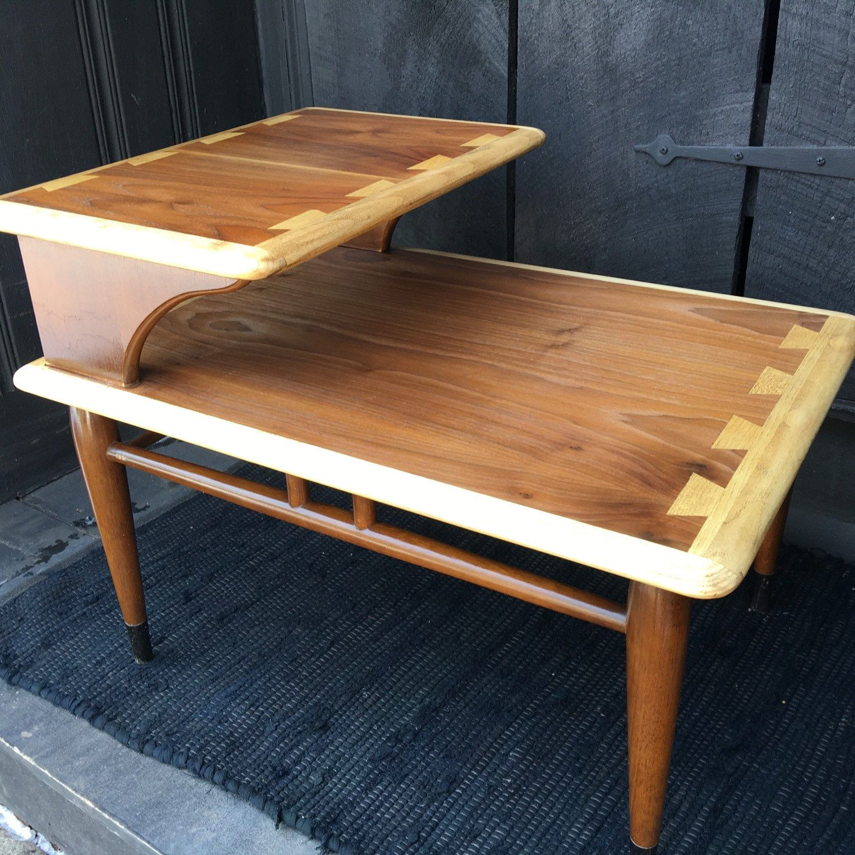Refinished Lane Acclaim Side Table   Mid Century Side Table   Lane Acclaim  Table   Walnut