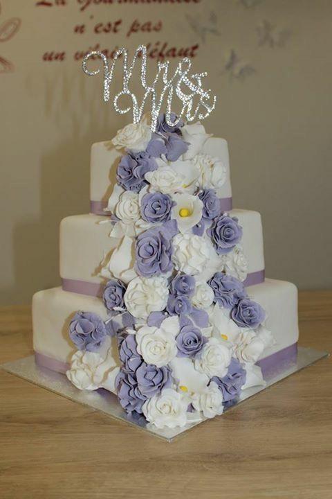 #weddingcake inspiration blanc et violet
