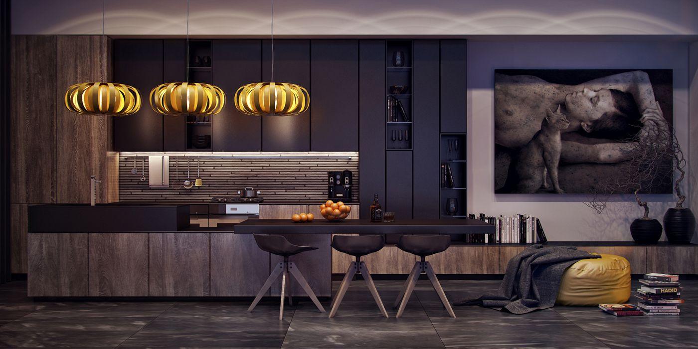 Evening Kitchen on Behance | Kitchen | Pinterest | Kitchens, Behance ...