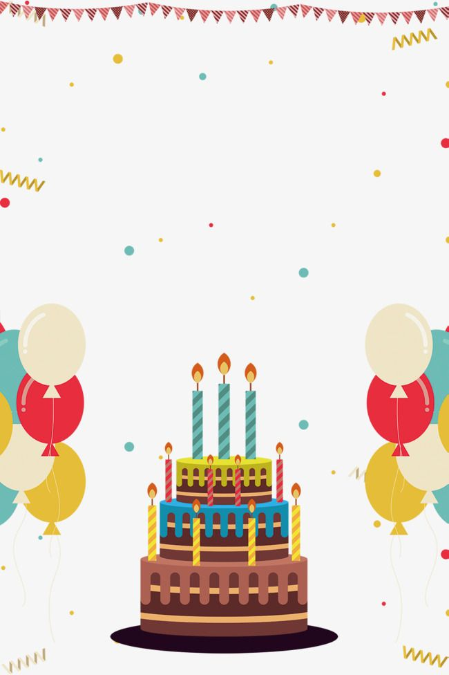 Multi Capa De Pastel De Cumpleaños Vector De Material