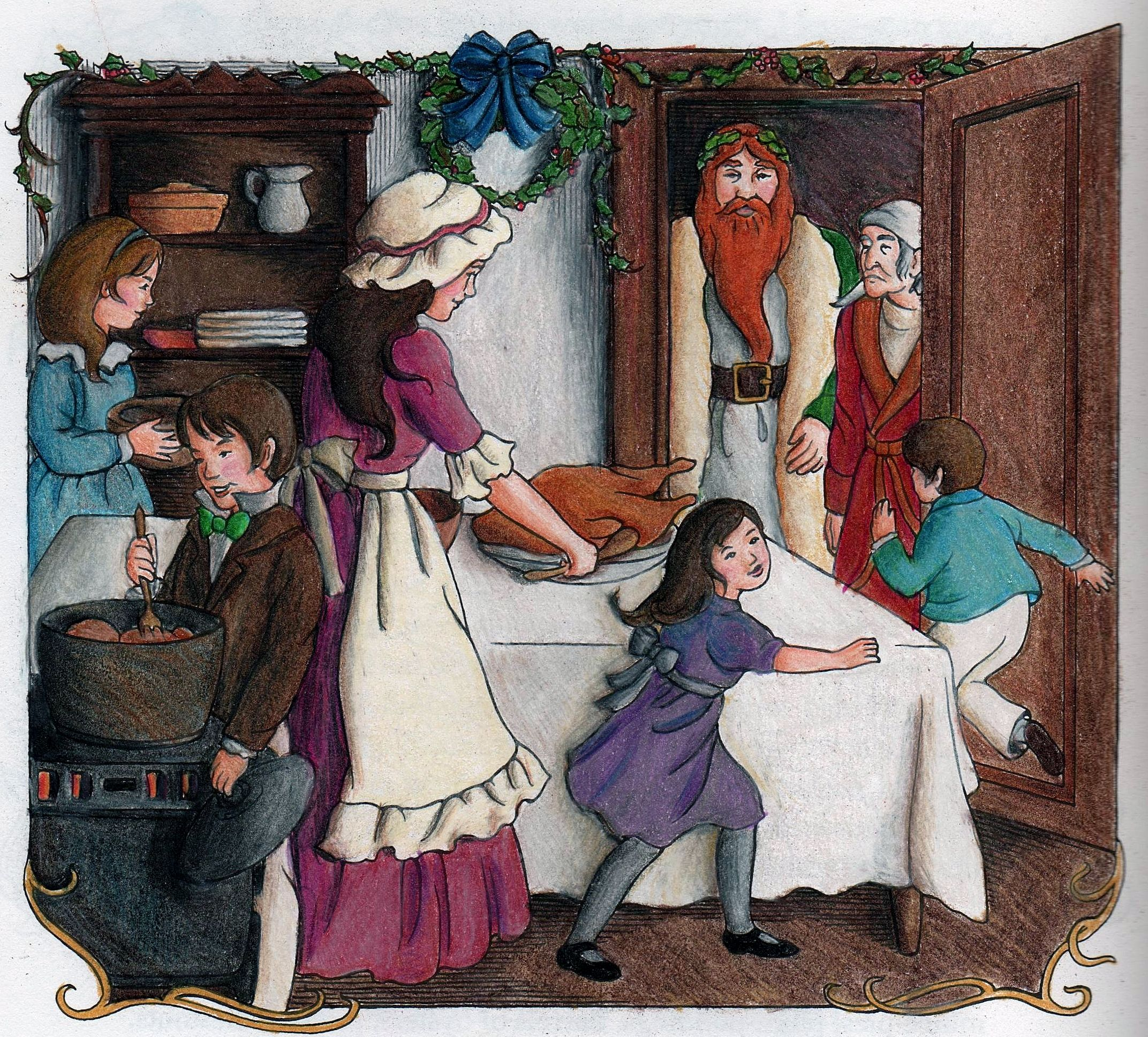 Tami Arnold 18 Division From A Christmas Carol Coloring Book