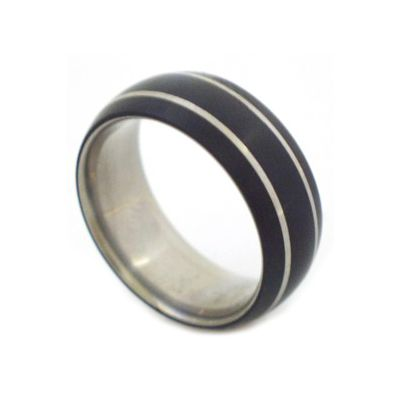 Titanium and black ertalyte or teflon rings Made to order in South