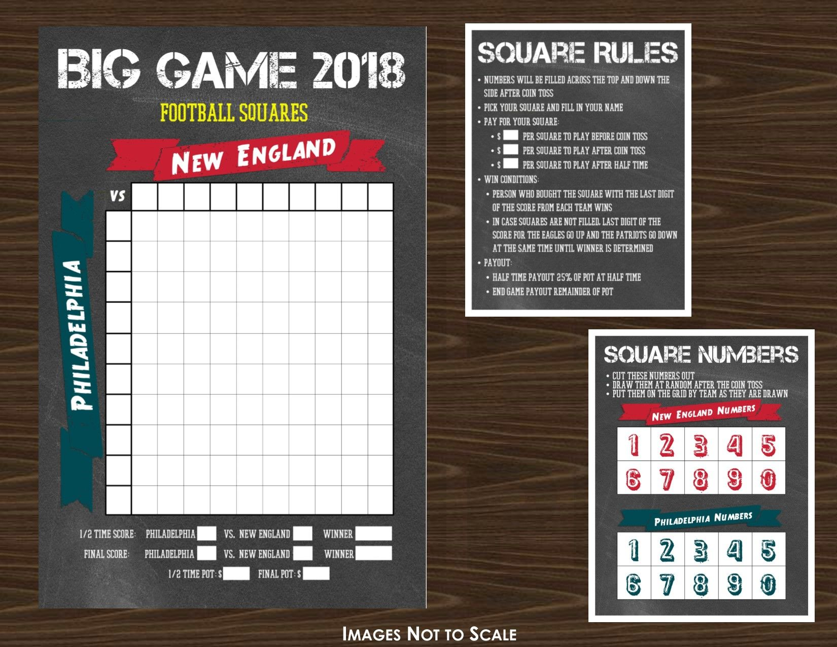 The Big Game Football Grid Or Squares Game Chalk