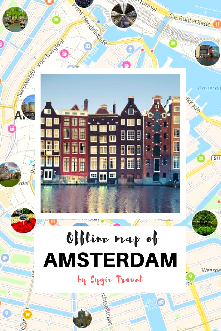 Offline map of Amsterdam, Netherlands, by Sygic Travel