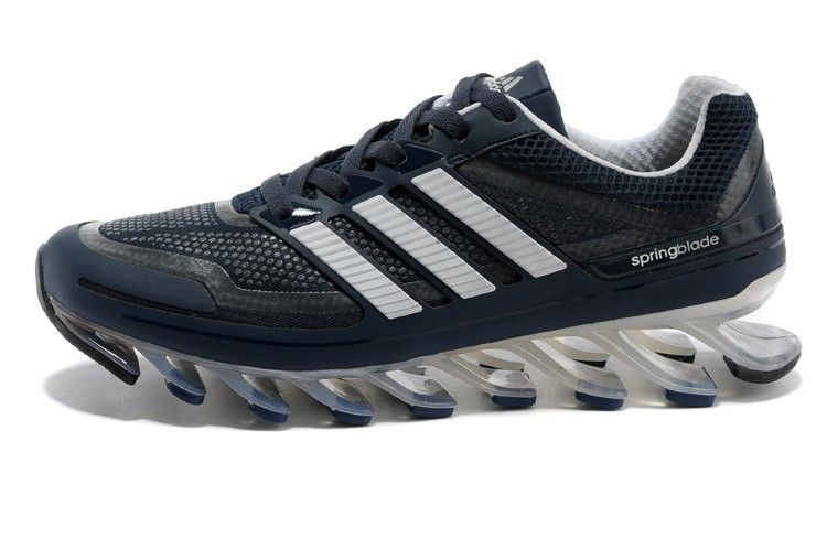 the latest f58b9 c4fb9 Mens Adidas Springblade Blue White running shoes shoes ...