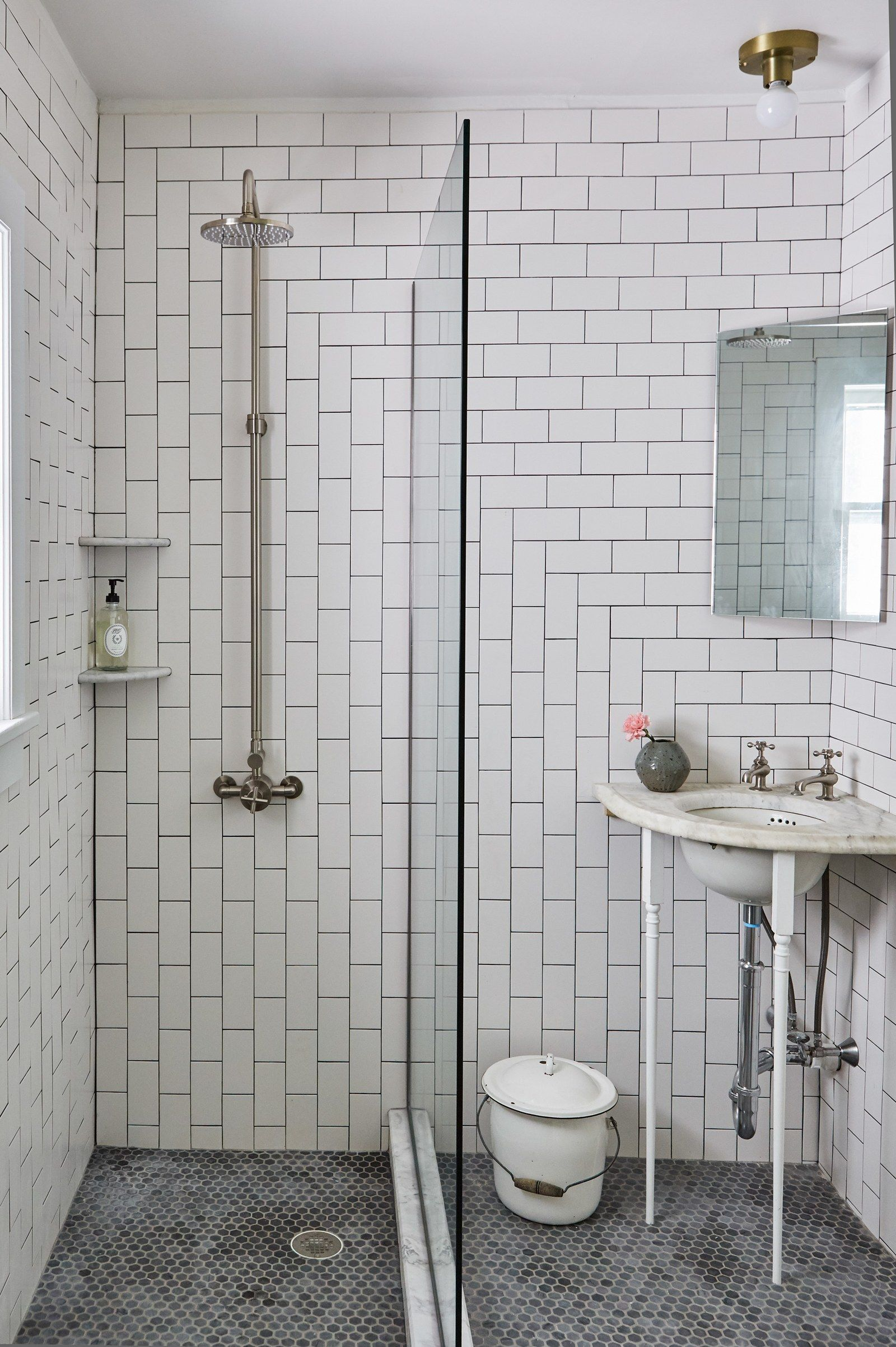 Our Very First Reno Was Of A Huge Historic Mansion That Sleeps 14 Corner Sink Bathroom Small Historic Bathroom Updating House