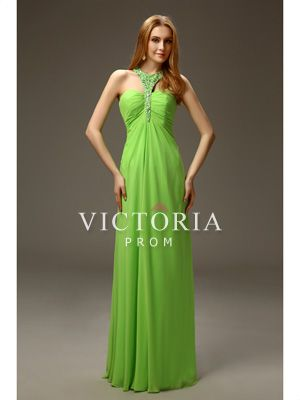 Sexy Flowy Modern Chiffon Beaded A-Line Floor Length Prom Dress - US$ 116.99 - Style P2898 - Victoria Prom