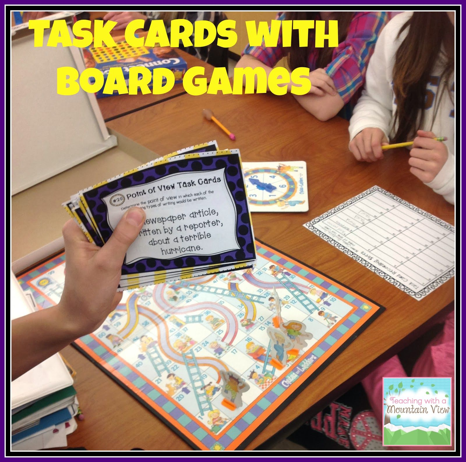 Task Card Corner: Using Board Games To Engage Students