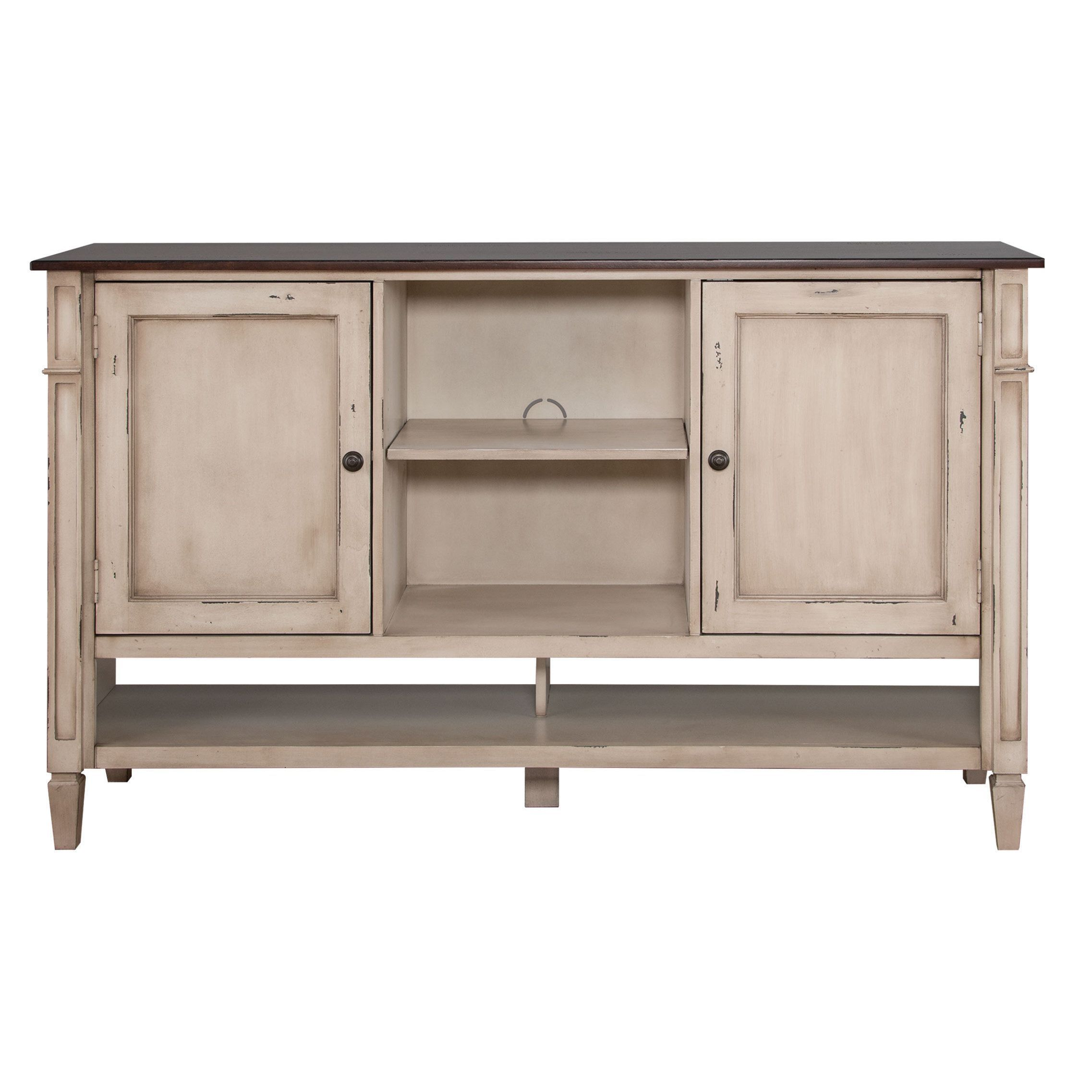 The Baker Deluxe Living Room Storage Console is made with hardwood ...