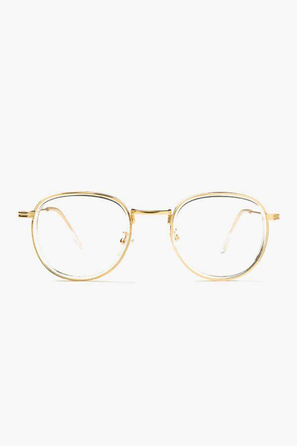 5b641f7656 Genuine People Round Clear-Lens Glasses
