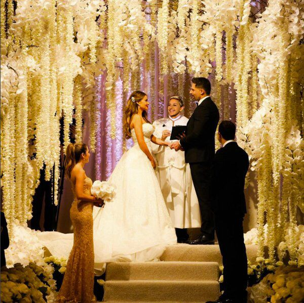Sophia Vergara Wedding Flowers dress ceremony vows