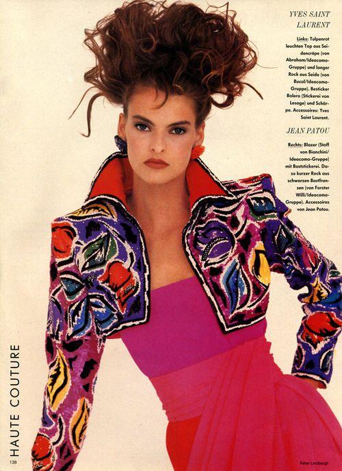 Lalinda Evangelista Vogue Germany 1987ph Peter Lindbergh Model Linda Evangelista 80s And 90s Fashion 1980s Fashion 80s Fashion