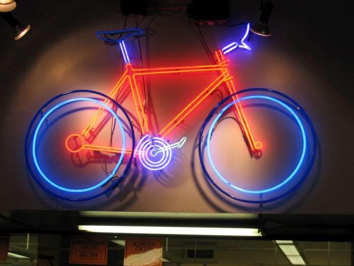 Neon Lights Photo Gallery Bicycle Light Neon Photos Bike
