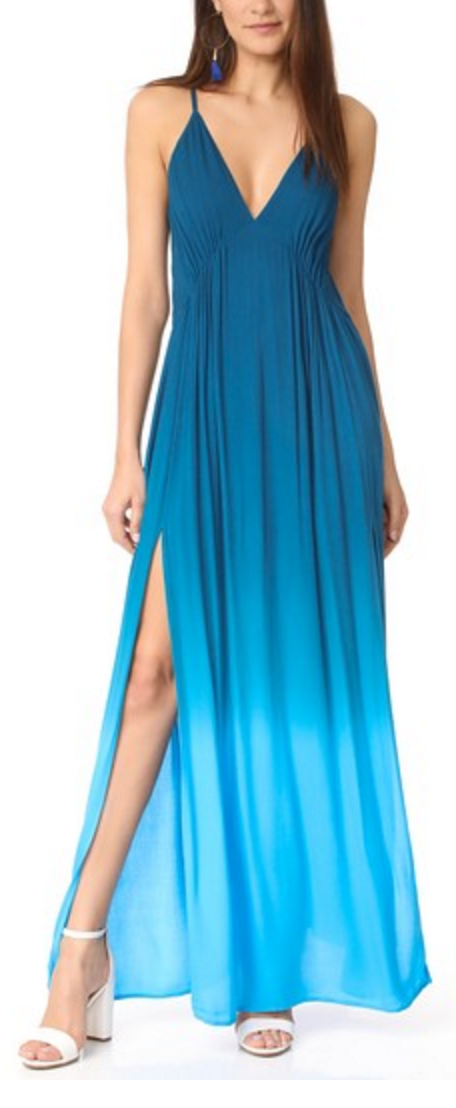 Blue ombre maxi dress
