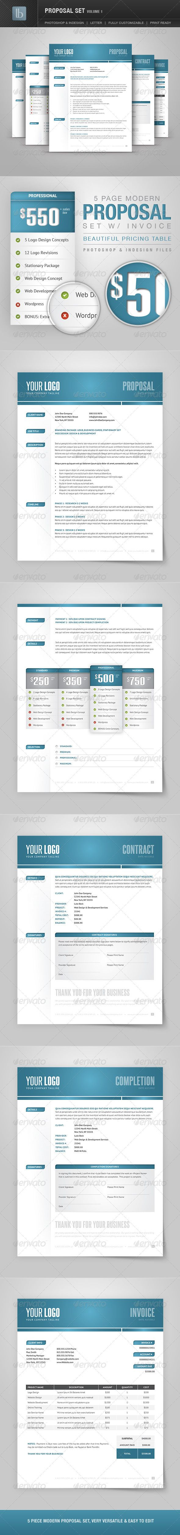 Proposal Set Template PSD, InDesign INDD. Download here: http ...
