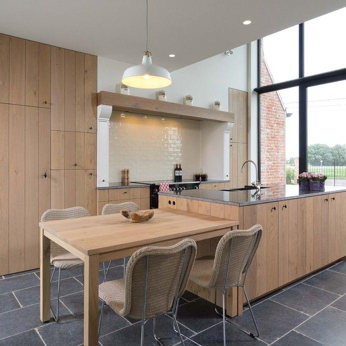 Landelijke stijlvolle eiken keuken home sweet home pinterest keuken keukens en landelijk - Deco stijl chalet ...