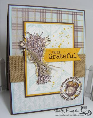Cute stuff by Shirley: Truly Grateful Card for The Paper Players Challenge!
