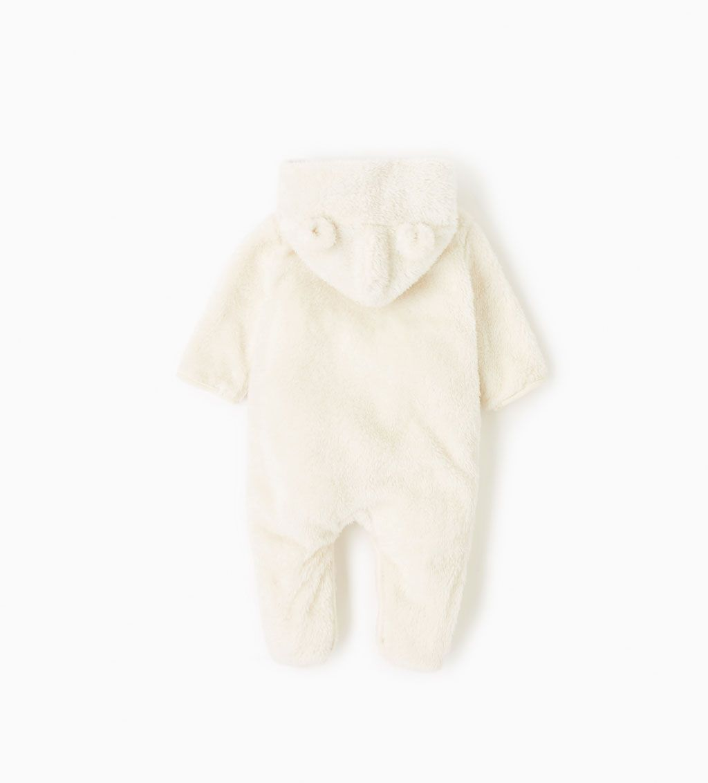 38f6084ed0ad Faux fur hooded one piece suit-NEW IN-MINI