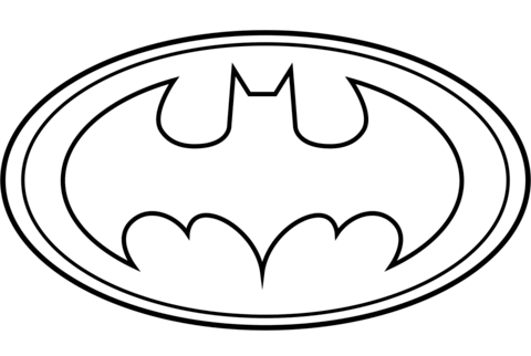 Coloring Pages To Print Coloringpagestoprint Batman Logo Coloring Page From Batman Category Select Logo Batman Modele De Coutures Pour Enfant Fete Des Peres