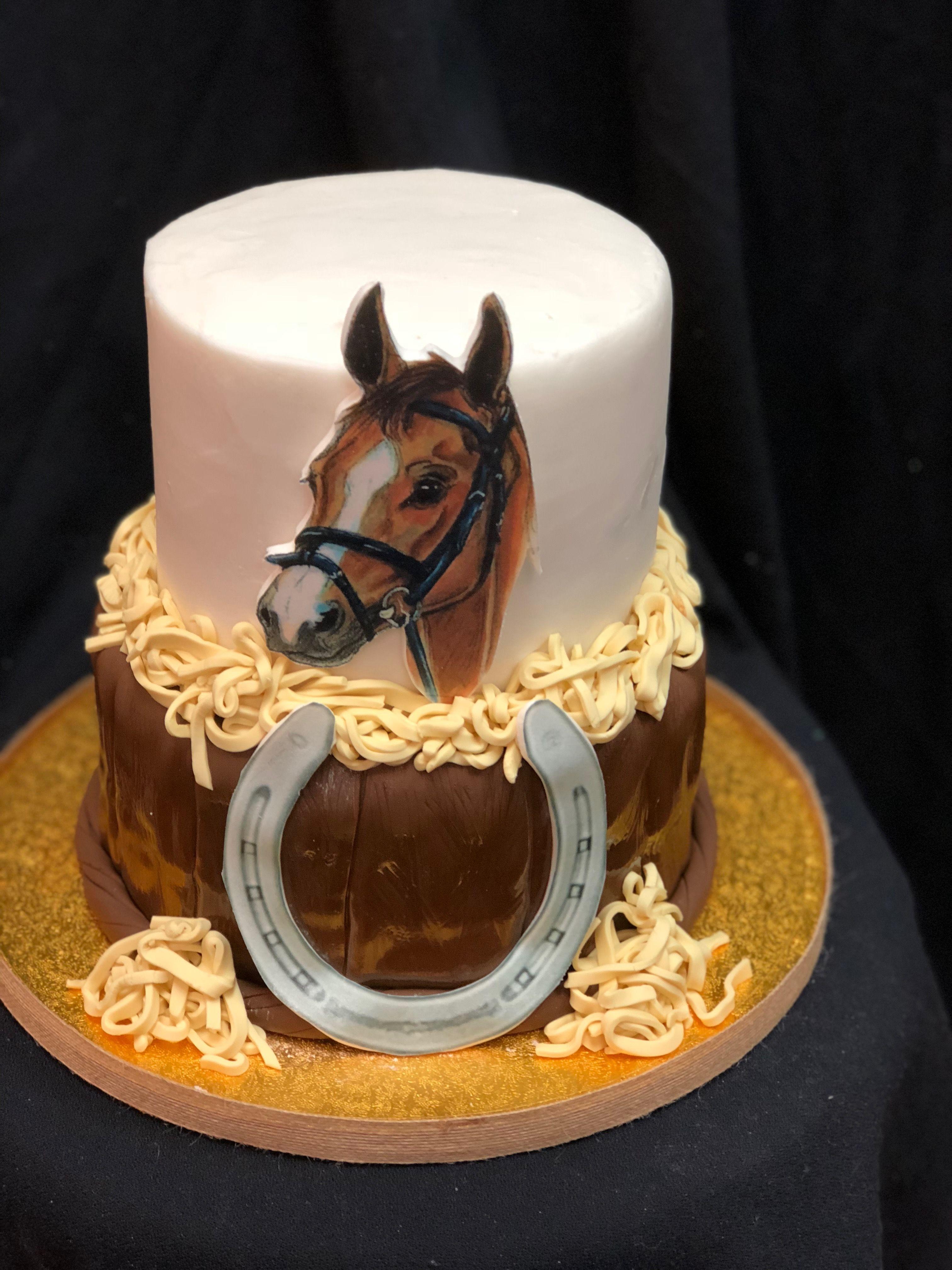 Tremendous I Love My Horse Cake Horse Birthday Cake Horse Cake Cowboy Personalised Birthday Cards Cominlily Jamesorg