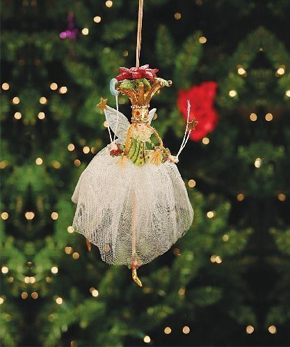 Patience Brewster Krinkles Poinsetta Princess Christmas Ornament