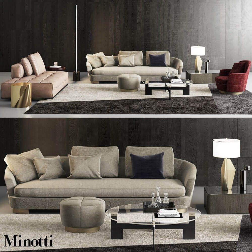 Minotti Grand Jacques Sofa Set 3d Model Shabby Chic Furniture Before After Shabby Chic Furniture Furniture
