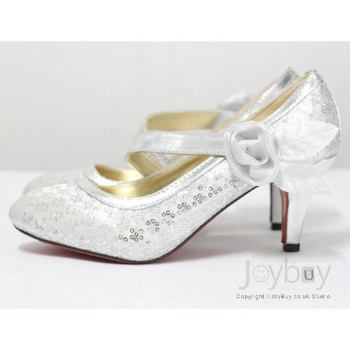 Low Heel Wedding Shoes If We Could Remove That Flower Thing