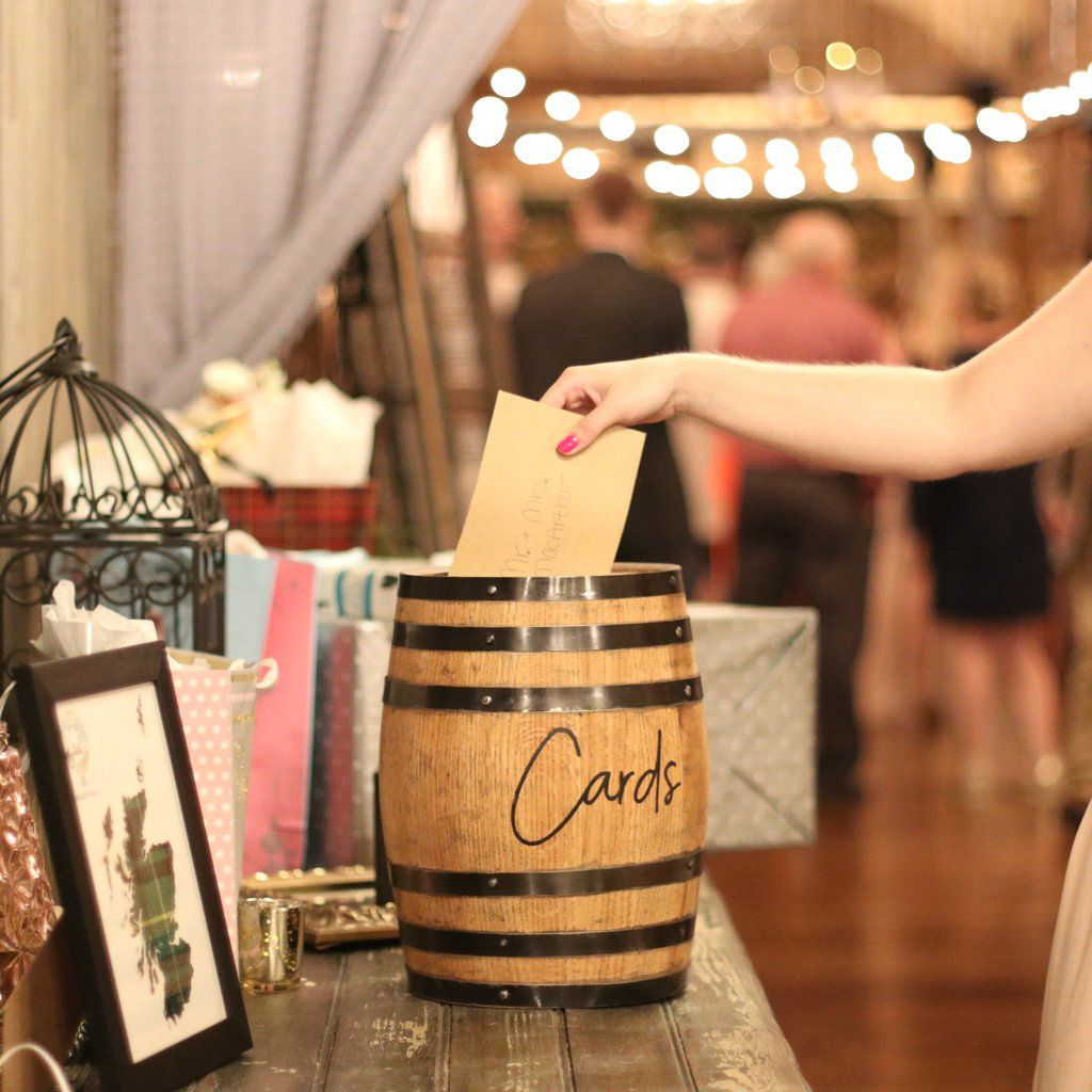 barrel event reception card holder  small in 2020