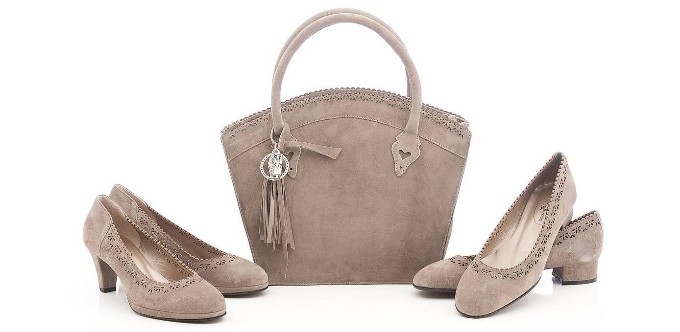 ERSTKLASSIG dirndl+bua Damenschuhe und Tasche Luisa in