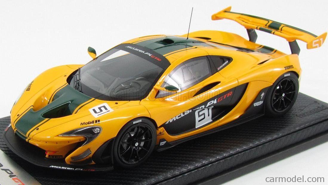 Tecnomodel T18 Ex03a Scale 1 18 Mclaren P1 Gtr N 51 Geneve Motorshow 2015 Yellow Green Mclaren P1 Mclaren Gtr