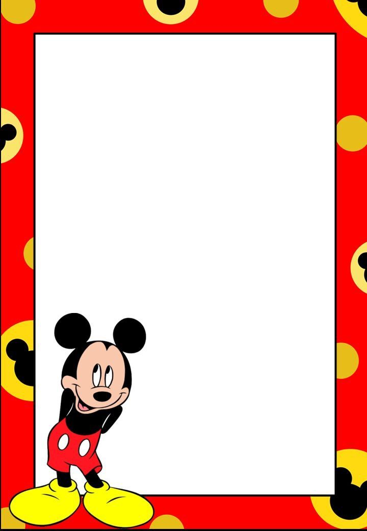 Mickey Mouse Bordersstationarybackgrounds Pinterest