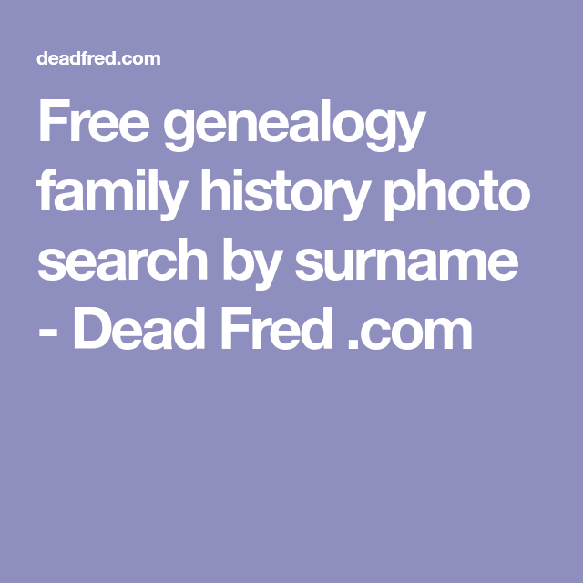 how to search family history