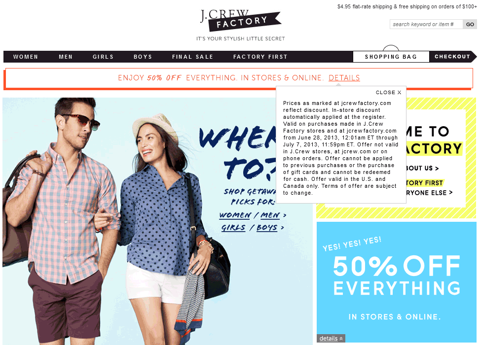 photograph about J Crew Factory Printable Coupons identify Pinned June 28th: Excess 50% off all the things at J.Group Manufacturing unit