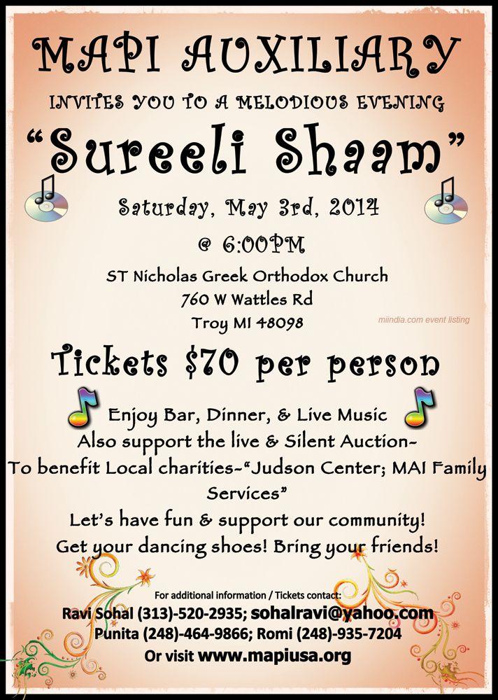Mapi Auxiliary Presents Sureeli Shaaam Musical Evening