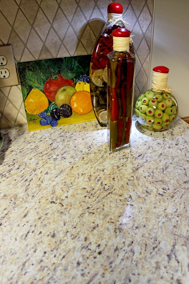 Formica Premium Laminate Santa Cecilia GoldEtchings Finish With An Ideal Edge Countertop With
