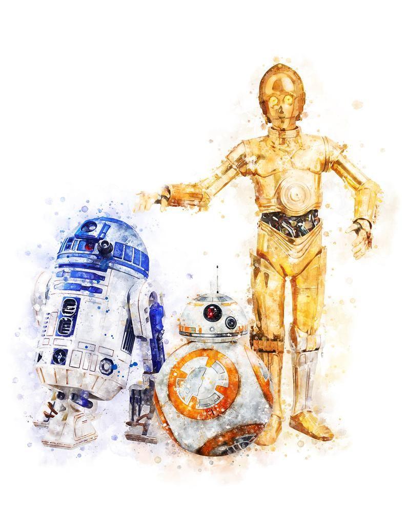 Star Wars Art Prints R2d2 C 3po Watercolor Painting Star Wars Etsy Star Wars Painting Star Wars Prints Star Wars Art